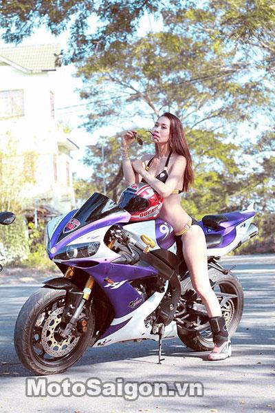 Người đẹp Bikini đọ D 225 Ng C 249 Ng Panigale 899 V 224 Yamaha R1