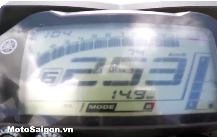 Tốc độ tối đa max speed Yamaha MT-10 2016