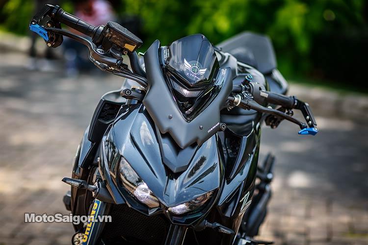 Ấn Tượng Z1000 độ đẹp Với Tone M 224 U đen Xanh Motosaigon
