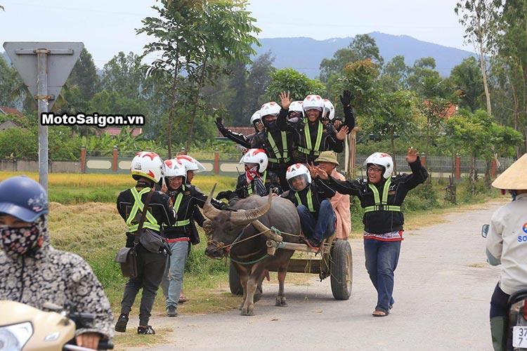 20 chiếc exciter 150 135 đi xuyên Việt thử thách