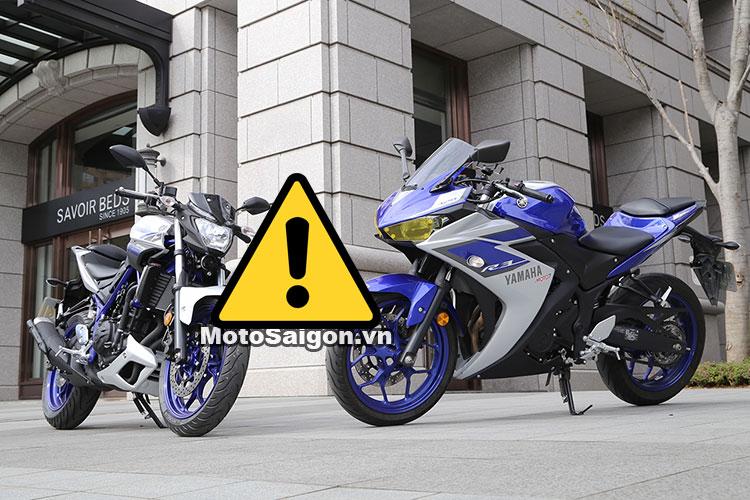Yamaha r3 MT-03 bị triệu hồi vì lỗi kỹ thuật