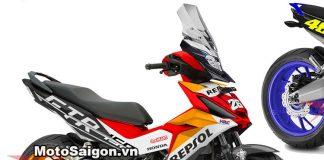 Winner 150 độ bánh to moto pkl tem Repsol