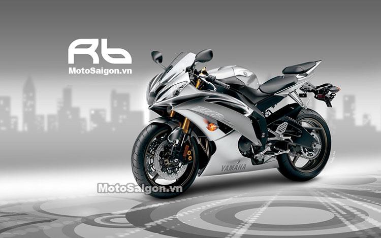 Yamaha R6 với thiết kế đẹp mắt thể thao.