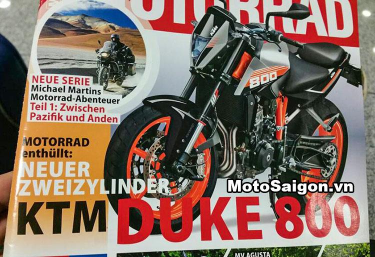 KTM Duke 800 mẫu xe moto mới 2017 của KTM