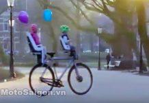 Xe đạp điện tự hành và tự cân bằng