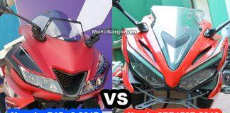 So sánh Yamaha R15 v3 2017 vs CBR150R 2016