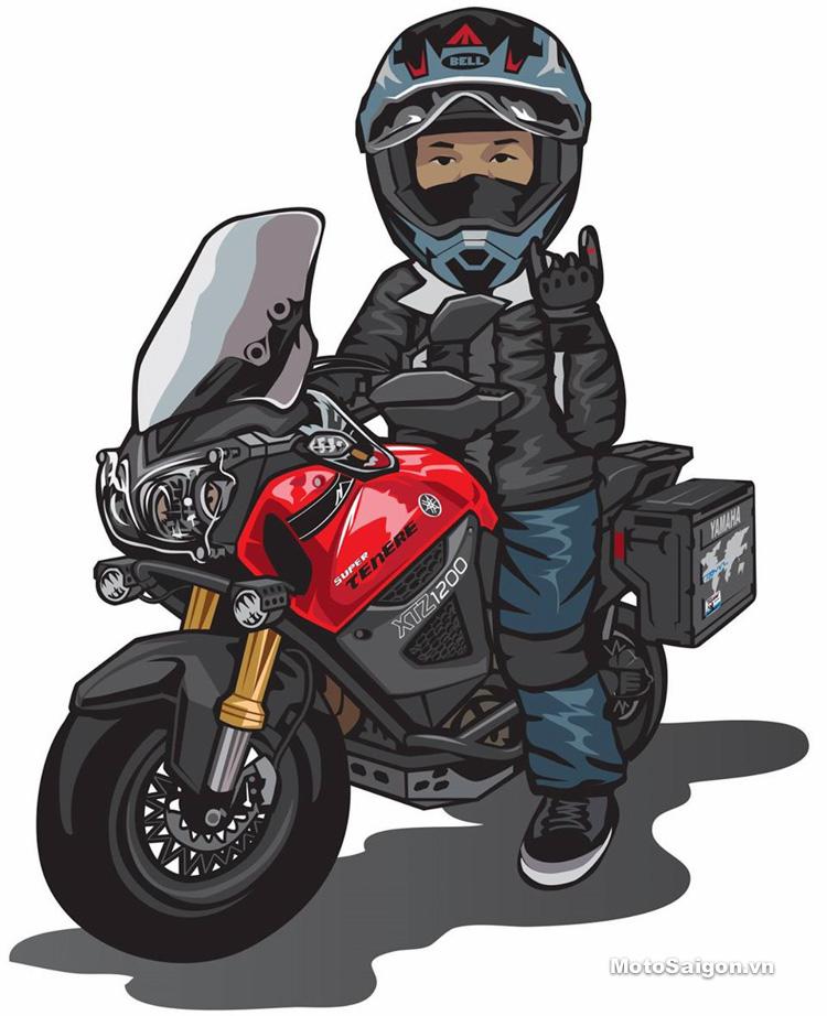 мультяшные картинки с мотоциклами