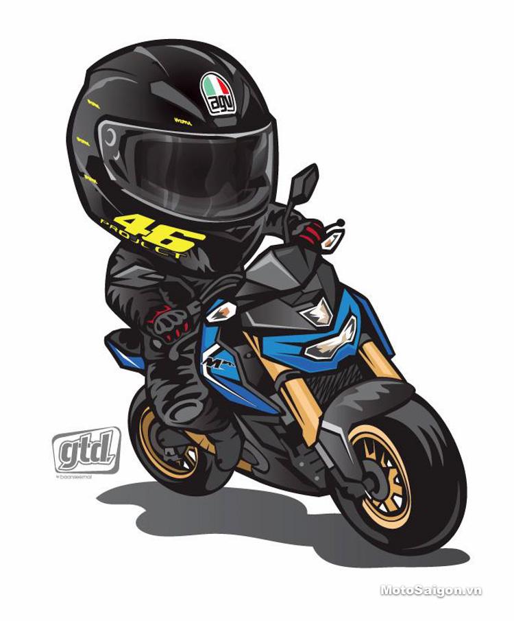 Cực Quot Kute Quot Với Bộ H 236 Nh Vẽ Moto Phong C 225 Ch Chibi Motosaigon