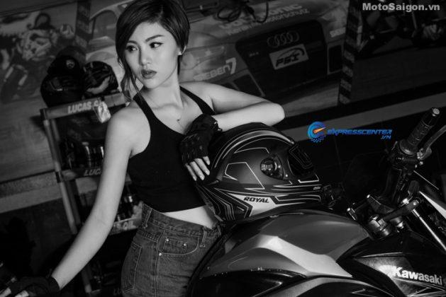Nữ biker Thu Anh cá tính bên Kawasaki Z800 - Motosaigon