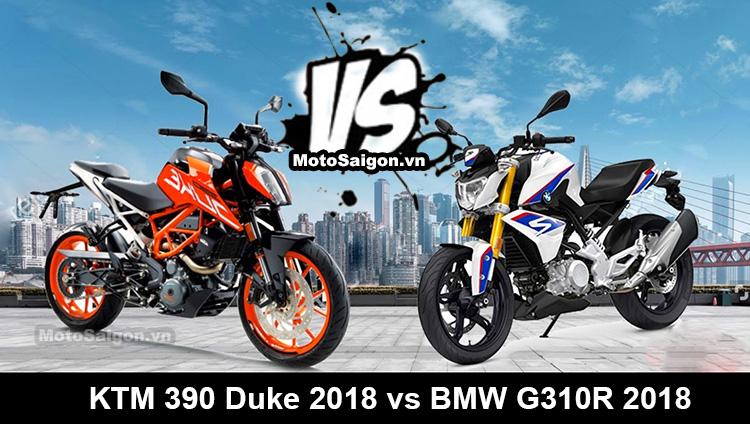 So sánh KTM 390 Duke vs BMW G310R 2018