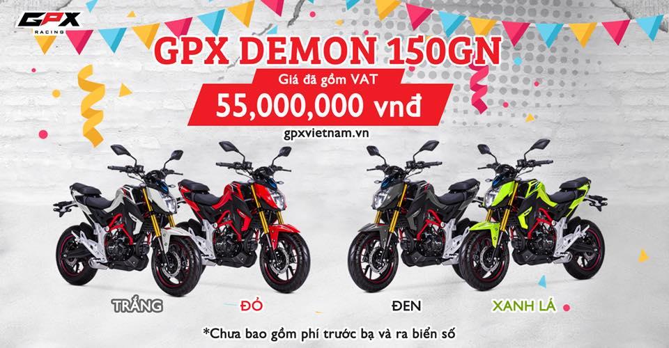 Giá xe GPX Demon 150GN chính hãng 55.000.000đ