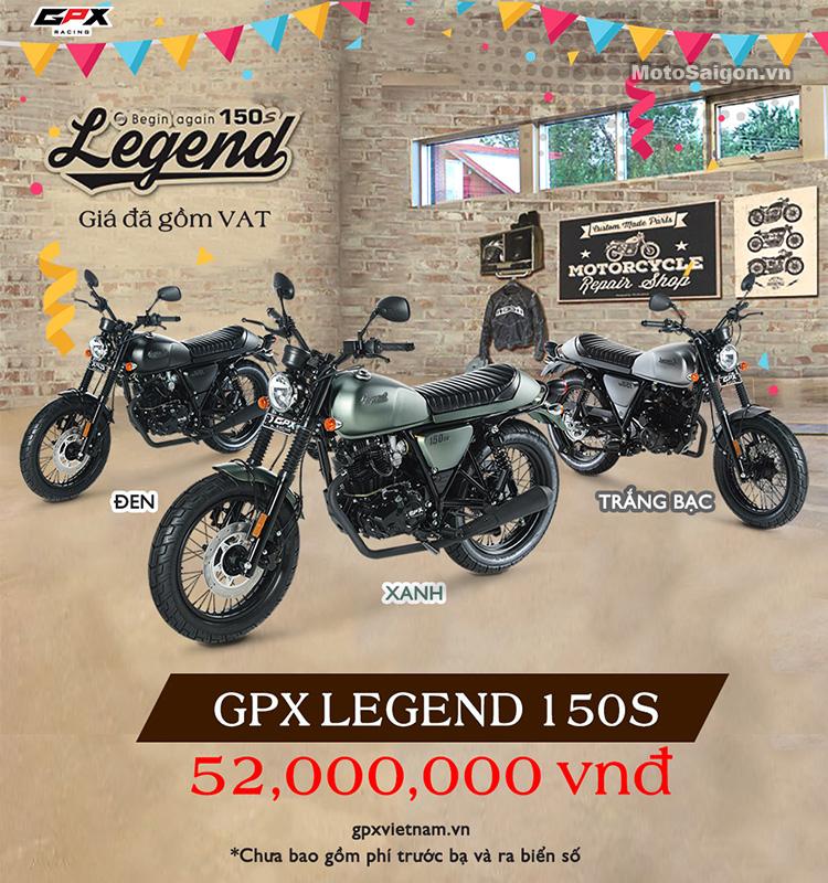 Giá xe GPX Legend 150S chính hãng GPX Racing Việt Nam
