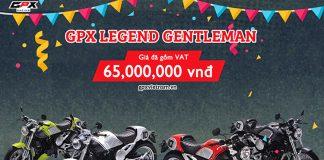 Giá xe GPX Legend Gentleman chính hãng gồm 4 màu: Đỏ, Đen, Trắng, Xanh Neon