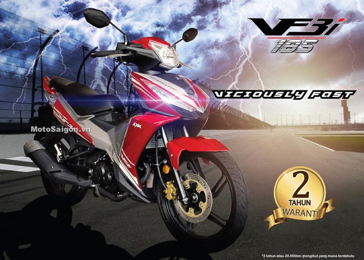 SYM VF3i xe côn tay 185cc đã có giá bán tại Malaysia cạnh tranh Exciter winner raider