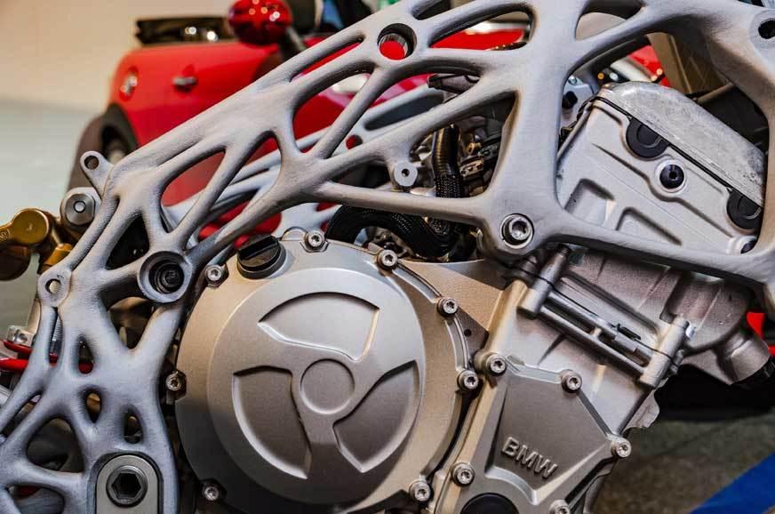 Bộ khung sườn được in 3D hoàn toàn dành cho BMW S1000RR