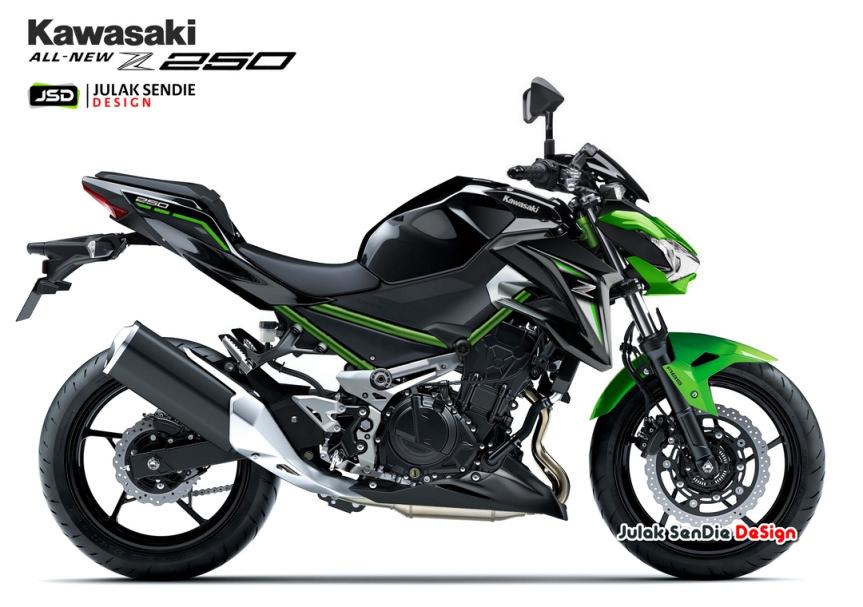 Kawasaki Z300 2019 với ngoại hình giống Z900 (Julak SenDie)