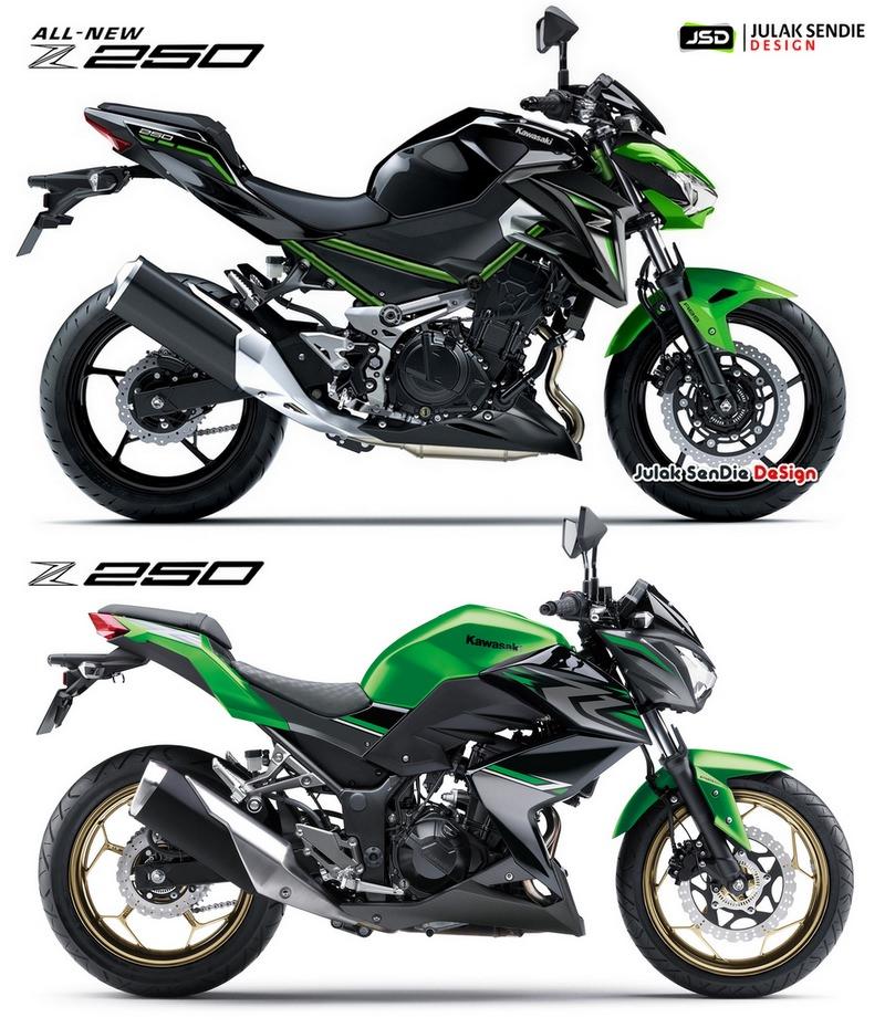 So sánh Z250 phiên bản cũ và Kawasaki Z250 2019