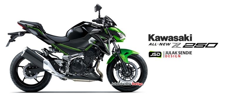 Kawasaki Z250 2019 sẽ tiếp tục nối tiếp ADN thiết kế của series Z Kawasaki