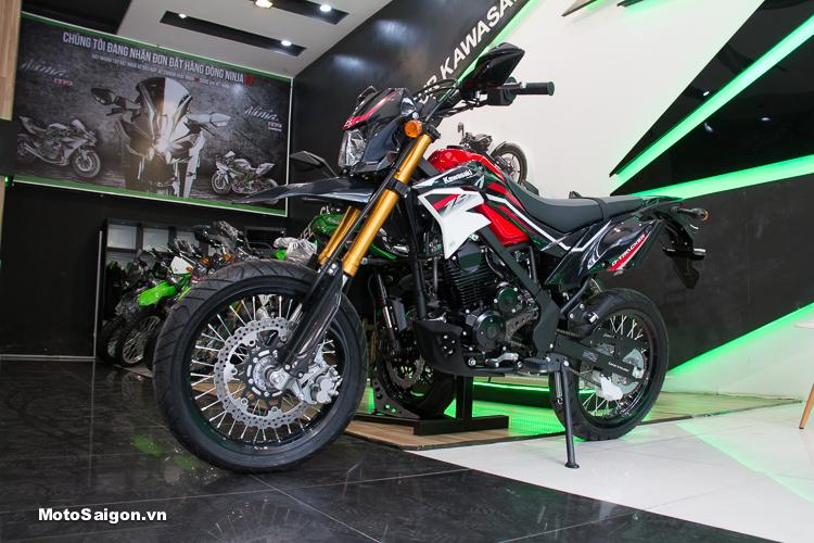 Hình ảnh chi tiết Kawasaki D-Tracker 150 2018 màu đen đỏ