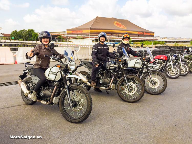 Royal Enfield Himalayan được trải nghiệm thực tiế tại Motor Sport Park Suvarnabhumi
