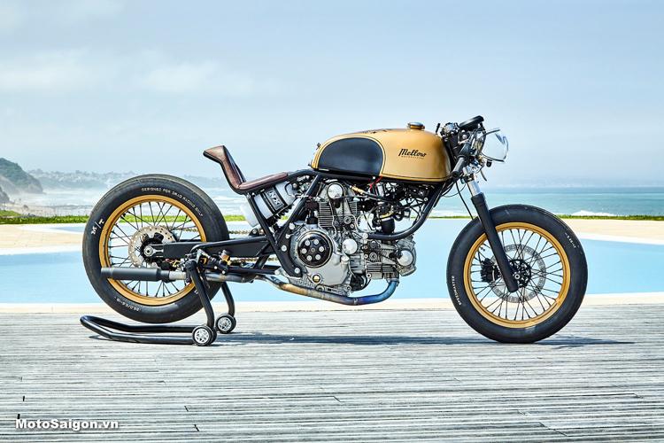 Mẫu Frankenstein của Ducati giành giải quán quân Sultans of Sprint năm ngoái cũng được độ bởi Garage Mellow