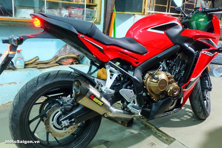 Nghe thử pô Akrapovic trên Honda CBR650F và Honda CB500F