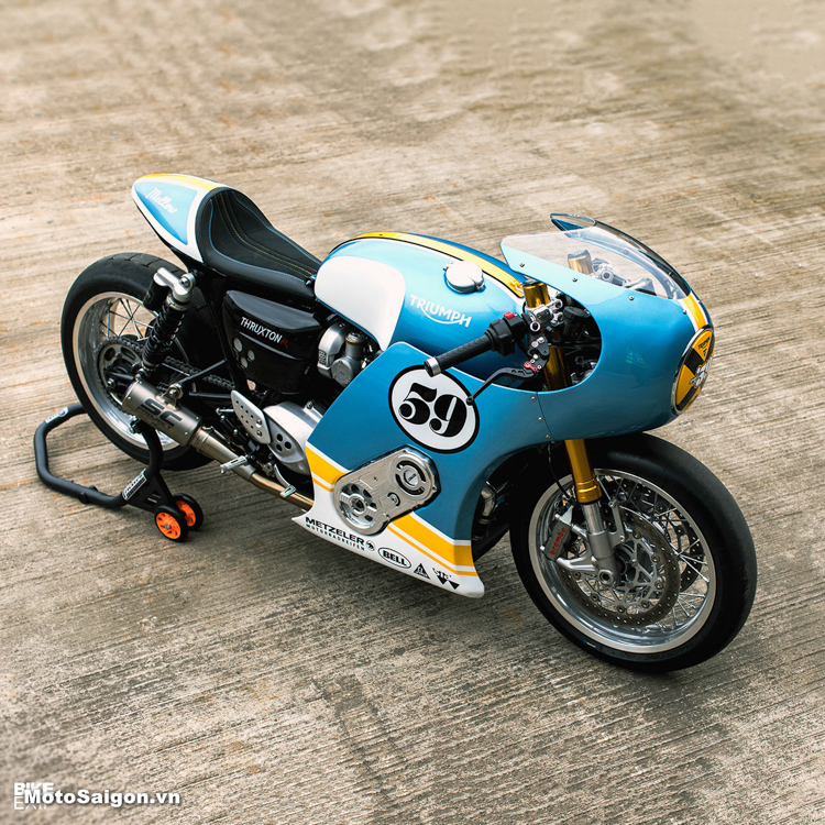 Triumph Thruxton R độ Cafe Racer động cơ siêu nạp Supercharged