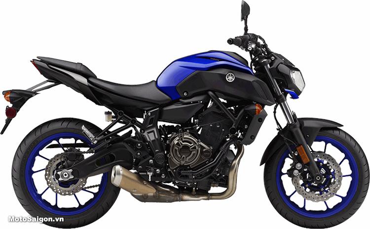 Yamaha MT-07 2018 màu xanh dương