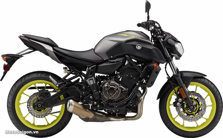 Yamaha MT-07 2018 màu xám đen nhám