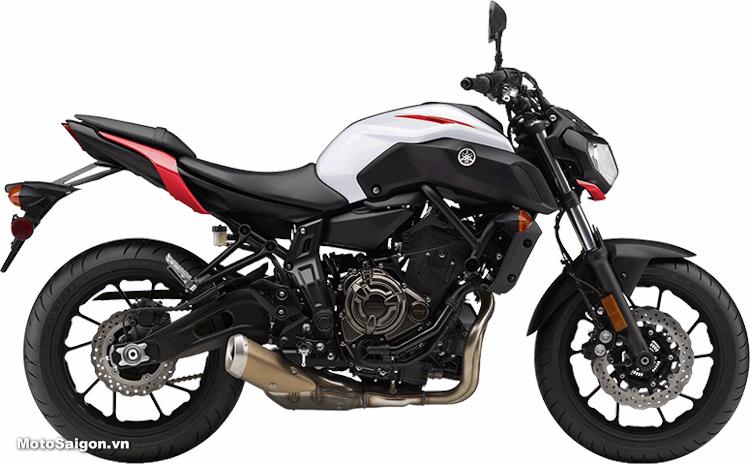 Yamaha MT-07 2018 màu trắng đỏ