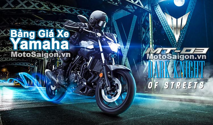 Bảng giá xe Yamaha 2018 mới nhất hôm nay