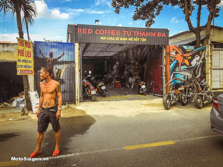 Cafe Red Coffee Tự Thanh Đa tại địa chỉ: số 336 Ung Văn Khiêm, phường 25, quận Bình Thạnh, TP HCM