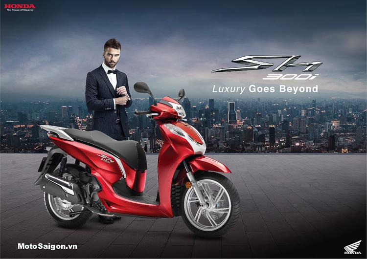 Honda SH300i 2018 nhập Ý đã có giá bán chính hãng tại Việt Nam