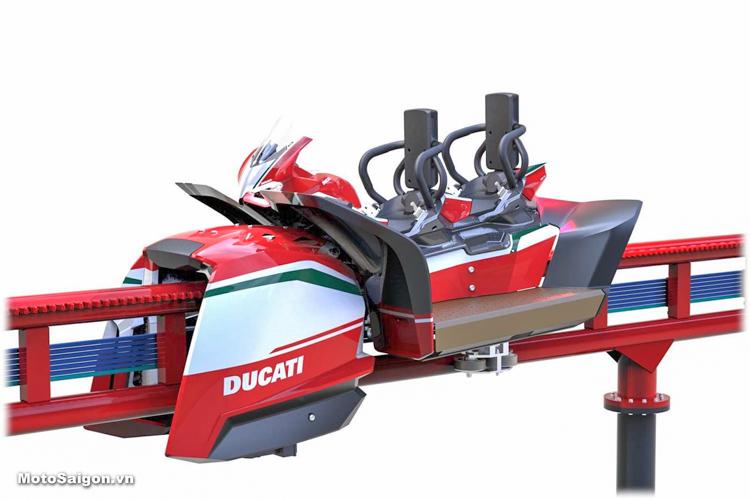 Tàu lượn Panigale của Ducati là trò chơi được mong chờ nhất của Ducati World