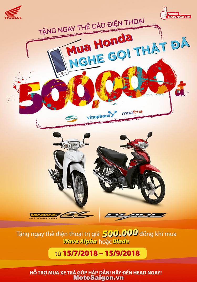 Chương trình khuyến mãi cực kỳ hấp dẫn của Honda Việt Nam