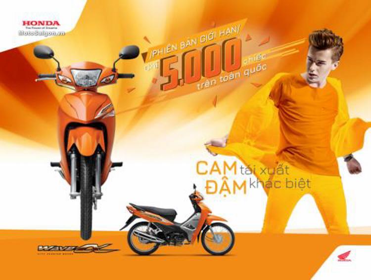 Honda Wave Alpha 110cc phiên bản giới hạn màu cam