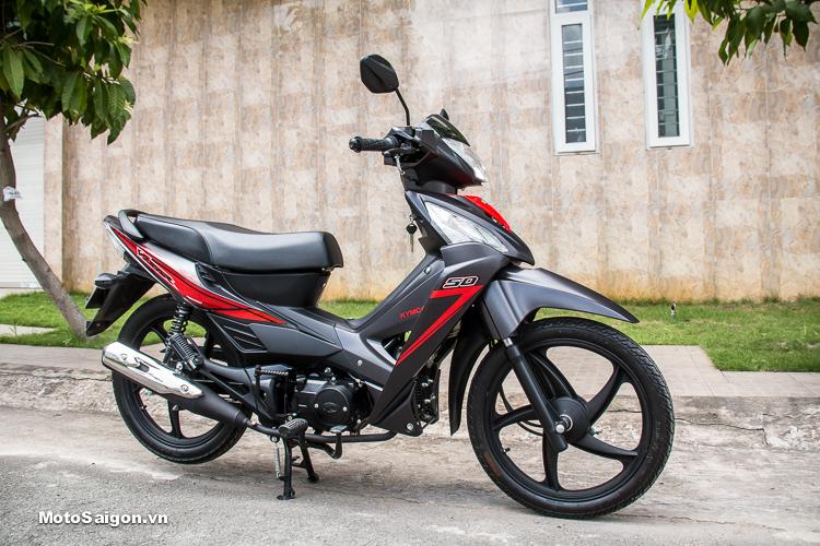 Đánh giá xe Kymco Visar 50 có ngoại hình đẹp mắt, ấn tượng như những mẫu xe 100-125cc