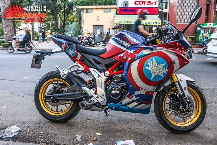 GPX Demon 150GR lên tem Captain America cực chất