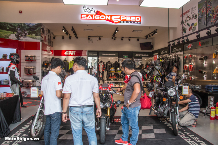 Khai trương Đại lý GIVI chính hãng tại Saigon Speed Center