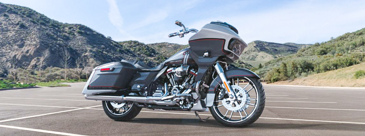Harley-Davidson CVO Road Glide 2019 Lightning Silver & Charred Steel With Black Hole