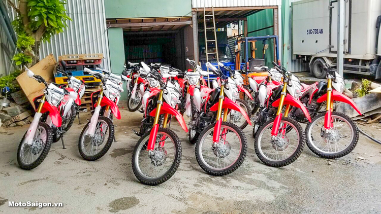 Giá cực sốc với Lô hàng Honda CRF150L 2018 vừa về Việt Nam