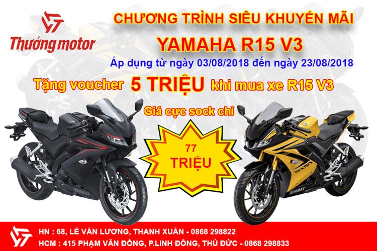 Chương trình ưu đãi giá cực sốc cho Yamaha R15 V3 2018
