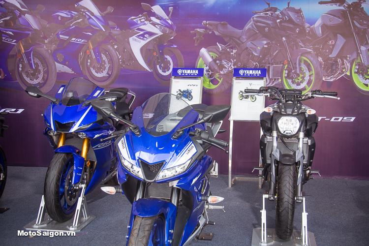 Các mẫu xe pkl: Yamaha R6, MT-07, R1, MT-10..được trưng bày tại Đại hội Exciter Festival 2018 vừa qua