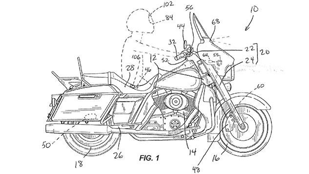 Bản thảo hệ thống phanh khẩn cấp đã được Harley-Davidson đăng ký bản quyền