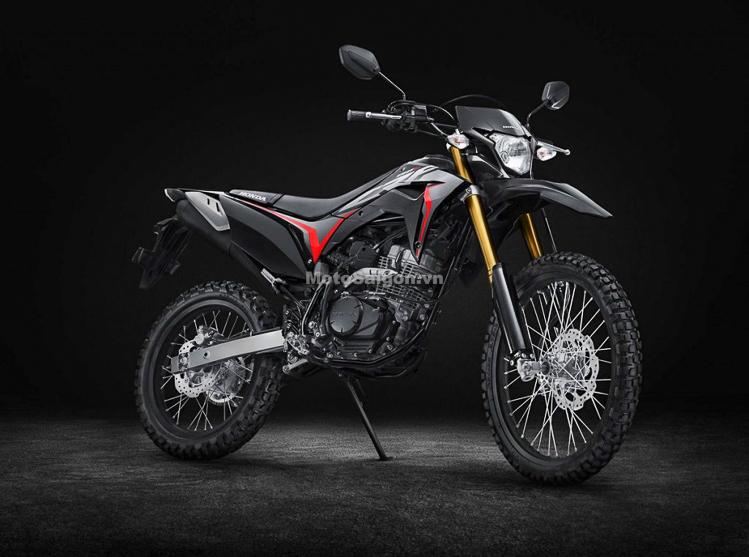 Honda CRF150L màu đen mới trình làng với giá bán hấp dẫn