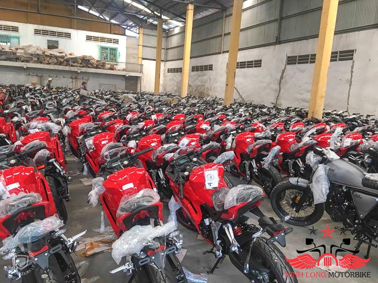 Hàng nghìn xe GPX về Việt Nam chuẩn bị phân phối ra miền Bắc