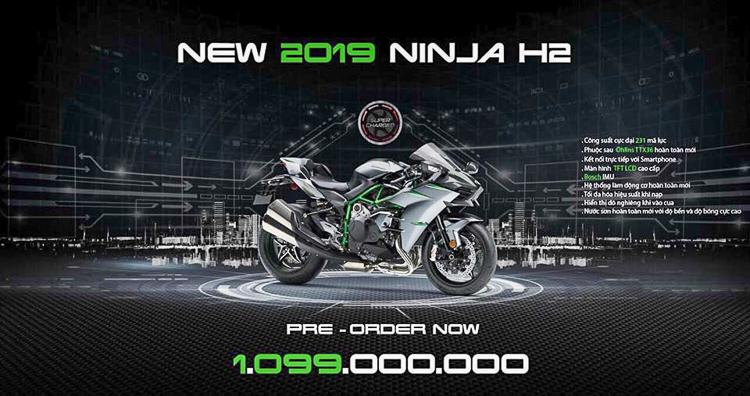 Đã có giá xe Kawasaki Ninja H2 2019 chính hãng tại Việt Nam