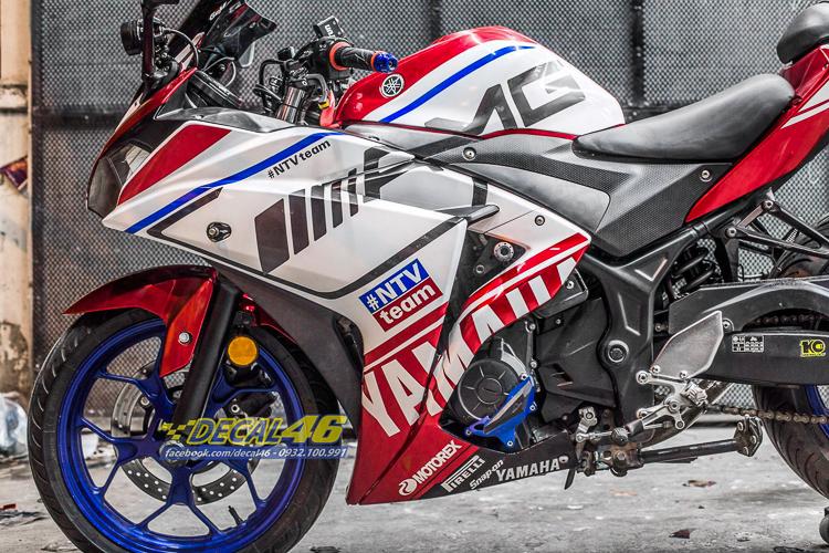 Yamaha R3 lên tem phong cách Agusta trắng đỏ tuyệt đẹp