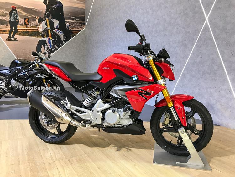 BMW G310R màu đỏ phiên bản 2019 đầu tiên về Việt Nam được trưng bày tại BMW Motorrad Day 2018
