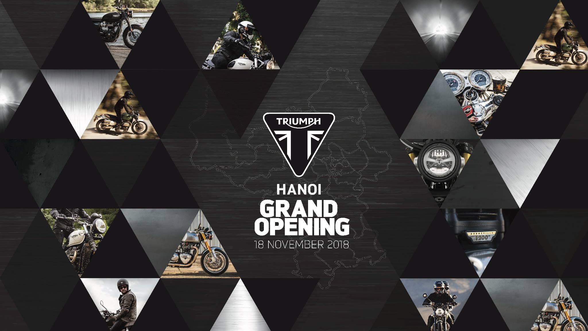 Triumph Việt Nam chuẩn bị mở thêm Showroom tại Hà Nội